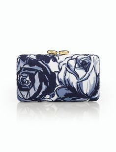 Printed Brushed Twill Printed Minaudiere - Talbots