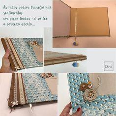 Álbum com técnica de costura japonesa! Workshop Terapia ( Maio) na Chria! Participe! WhatsApp: (47) 99916 0937