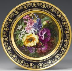 Sevres Darte Paris Porcelain 008 Plate.