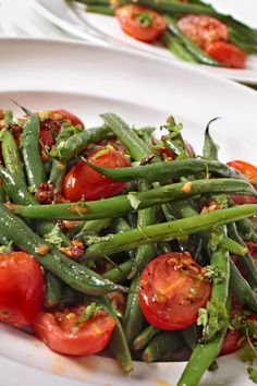 Weight Watchers Roasted Green Beans and Tomatoes Recipe