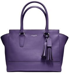 Coach Legacy Leather Medium Candace Carryall in purple
