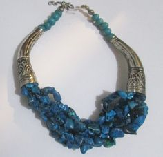 beadwork necklacebib necklacestatement by 1VINTAGEhope on Etsy, $49.99  Love vintage, when done right it sets you apart in a beautiful way!!