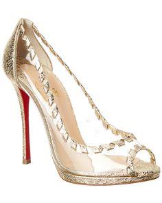 273b2a6628 CHRISTIAN LOUBOUTIN CHRISTIAN LOUBOUTIN HARGARET 120 LEATHER   PVC PUMP.   christianlouboutin  shoes Γόβες