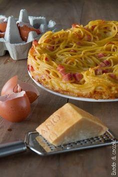 frittata spaghetti pancetta