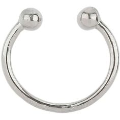 Miss Selfridge Septum Ring ($8) ❤ liked on Polyvore featuring jewelry, rings, silver color, imitation jewellery, imitation jewelry, miss selfridge, fake jewelry and artificial jewellery