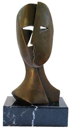 Inspiró a Picasso escultura detrás de la máscara de Bronzesculpture Bronzemask