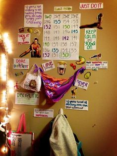 motivation wall.