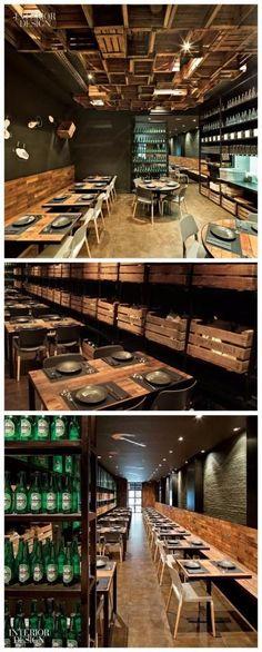 restaurante techo huacales