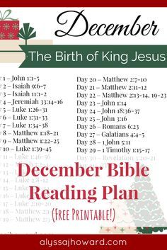 As Christians, we often struggle with how to handle Santa Claus with our young children but perhaps our problem isn't really about Santa at all. It's about the heart. What are we really celebrating - Jesus or Santa? Be sure to check out this month's Bible reading plan all about the birth of our King Jesus! #December #BibleReadingPlan #Advent #Christmas #BibleStudy #FreePrintable Daily Scripture, Scripture Reading, Scripture Study, Scripture Writing Plan December, Scripture Journal, Bible Study Plans, Bible Plan, Daily Bible Reading Plan, Book Study