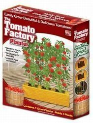The Tomato Factory Planter, As Seen On TV by Tomato Factory. $9.99. The Tomato Factory Planter. Holds 3 plants. Great for porch, deck or patio. No digging or weeding just fill, Plant & Water. Contains 1 Grow Planter (Holds 3 plants). Easily grow beautiful and delicious tomatoes. No digging or weeding just fill, Plant & Water. Great for porch, deck or patio. The Tomato Factory provides better soil aeration and allows the sun to heat the roots. Package contains 1 Grow Planter...