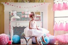 The Homespun Hostess: A Ballerina Party for Annabelle's 4th Birthday