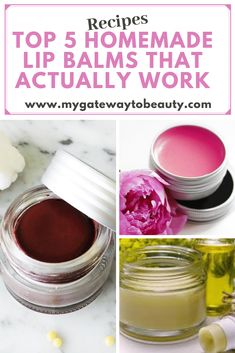 Homemade Lip Balm Recipe - If you are looking for a natural lip balm recipe, than you will love the easy diy lip balm recipes in this post! You will be learning Beeswax Lip Balm, Tinted Lip Balm, Organic Lip Balm, Natural Lip Balm, Natural Beauty, Diy Lipbalm, Lip Scrub Homemade, Lip Balm Recipes, Best Lip Balm