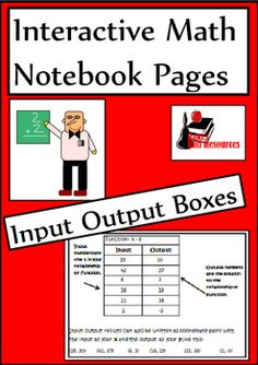 Newly released interactive math notebook lesson input output boxes. This includes a reference page, five reflection options and a practice page for just $1.25.
