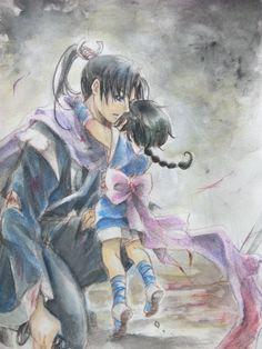 Rurouni Kenshin - Aoshi Shinomori x Misao Makimachi - AoMisa Kenshin Anime, Rurouni Kenshin, Era Meiji, Anime Manga, Anime Art, Samurai Anime, Anime Pictures, Samurai Champloo, Gaara
