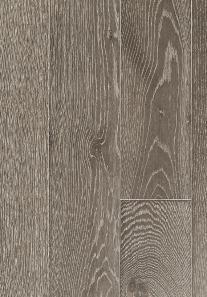 Stilvoll in grauer Eiche: Dieses edle Echtholz-Parkett veredelt jeden Boden.