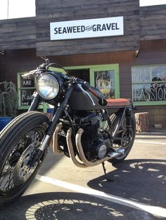Custom cb750 build by Ugly Motorbikes and Seaweed & Gravel