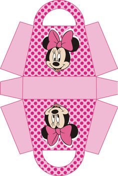 Minnie Mouse Birthday Party Gift Box Printable