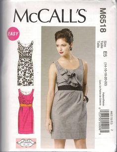McCall's Pattern 6518 Misses Women's Dress by LittleShopOfSewing