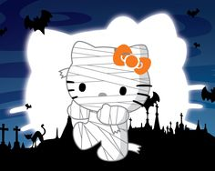 hello kitty clip art | Hello Kitty Halloween Background