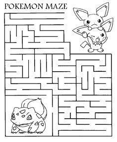 Hello Pokemon fans - ehre is a printable maze for you all to print out and complete - you can even color it in - so go and get your crayons...