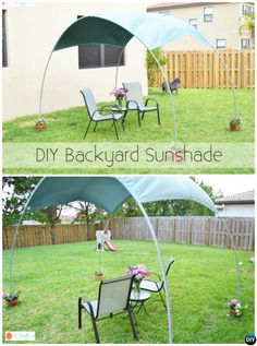 Diy outdoor tent canopy patio 70 ideas for 2019 Pvc Canopy, Backyard Canopy, Shade Canopy, Garden Canopy, Canopy Outdoor, Window Canopy, Canopy Bedroom, Hotel Canopy, Canopy Curtains