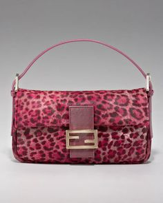 #Fendi #baguette #purse #Leopard #Print