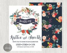 Hey, I found this really awesome Etsy listing at https://www.etsy.com/listing/226534020/wedding-invitation-flowers-spring