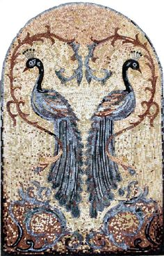 Mosaic idea.  Beautiful birds.