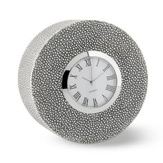 Round Clock, Shagreen #williamssonoma
