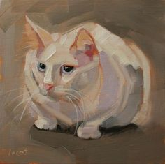 """That Cat"" - Original Fine Art for Sale - © Patti Vincent"