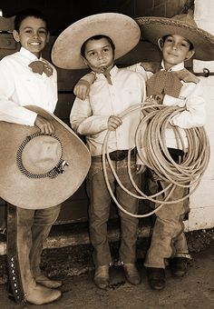 The People of Mexico: Charros de Mexico  Iago as boy. Far right with middle boy's face.