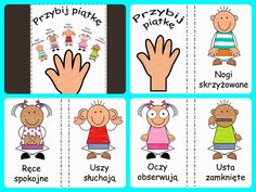 Dla kreatywnych i nie tylko: Przybij piątkę Classroom Rules, Classroom Behavior, Classroom Decor, Classroom Management, Polish Language, Scrapbook Albums, First Day Of School, Preschool Activities, Kids And Parenting