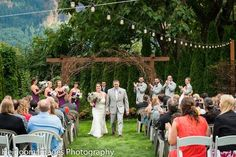 Wedding Venue in the Columbia Gorge with amazing views perfect for rustic, vintage, garden events in a beautiful historic gathering hall and private bar.