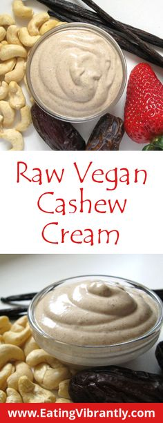 Raw Vegan Cashew Cream recipe - three wholefood ingredients, 5 mins to make, awesome taste @ Eating Vibrantly