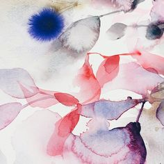 "Watercolor Art, Abstracts. Paintings by Marta Spendowska :: V E RY M A R T A ""Today is good. Greens, wine, popcorn soon, maybe a massage. Writing this to not forget. ""#watercolor#art"