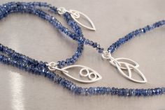 Asymmetrical Iolite necklace with sterling silver by GothamAtelier
