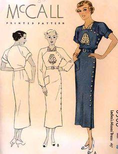 McCall 8306   ca. 1935 Ladies' & Misses' Dress