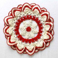 Vintage Ripple Edged Doily Crochet Pattern