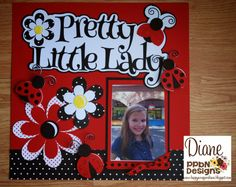 Looking for scrapbook page ideas! Here is a great tutorial on how to create the perfect layout for your Pretty Little Lady! Pin it for Later!