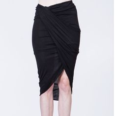 """Draped jersey skirt coming soon Draped jersey skirt coming soon. Very on trend and high quality. """"Like"""" to be notified on arrival  Ark & Co Skirts"""