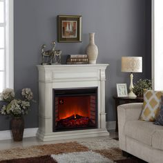Electric Fireplace for Valentine's Day