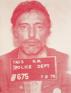 Dennis Hopper was wasted when he beat up a friend of my parents in Taos, NM in the 70s, where we lived in the back of a theatre. This must be the mug shot of that event...or one of many...