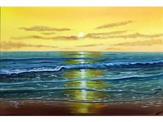 Aisha Haider - A vibrant seascape that will brighten up any room. This painting continues over the sides and may be hung without a frame. The painting has been varnished with gloss for protection and is signed in the corner by the artist. The painting has also been wired at the back of the canvas for instant hanging. This artwork is on a high quality M&W canvas. The painting will be carefully packed into a custom made box and dispatched within 2 working days by a trackable courier…