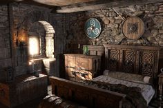medieval fantasy house interior Google Search Fantasy bedroom Medieval bedroom Fantasy house