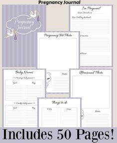 This pregnancy journal is great for all pregnant women. This is also a great gift idea for pregnant women.