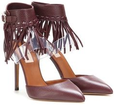 Valentino Garavani C-rockee Fringed Leather Sandals