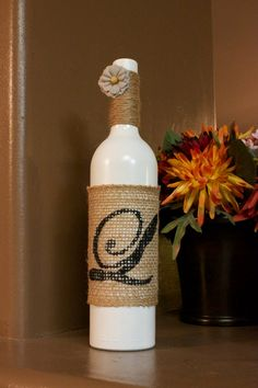 Handmade Personalized Initial Wine Bottles by Addisyns on Etsy $20.00