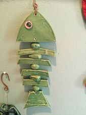 A Guide to Slab Rollers: Tips for Buying or Building a Slabroller, and Four Slab Pottery Projects - tattoo ideas Fish Crafts, Clay Crafts, Diy And Crafts, Ceramics Projects, Clay Projects, Ceramics Ideas, Slab Pottery, Ceramic Pottery, Fish Wall Decor