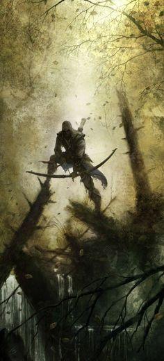 Assassin creed concept art Connor