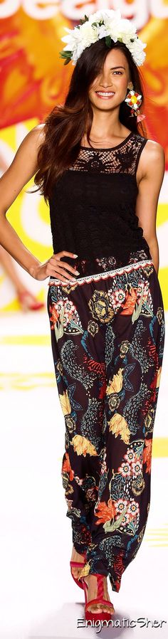Color fashion Glam - Desigual Spring Summer 2015 Ready-To-Wear
